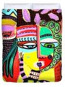 Talavera Dancers Duvet Cover
