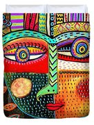 -talavera Owl Goddess Duvet Cover