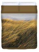 Tall Grass Blowing In The Wind Duvet Cover