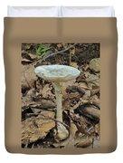 Tall Green Amanita Mushroom Duvet Cover