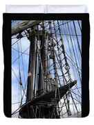 Tall Ship Mast Duvet Cover