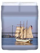 Tall Ship Three Duvet Cover