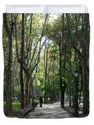 Tall Trees Of Madrid Duvet Cover