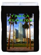 Tampa Florida Poster Work Number One Duvet Cover