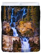 Tangle Falls At Dusk, Jasper National Duvet Cover