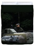 Tank Commander Of A Leopard 1a5 Mbt Duvet Cover