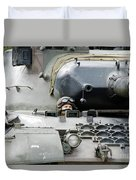 Tank Driver Of A Belgian Leopard 1a5 Duvet Cover