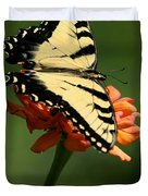 Tantalizing Tiger Swallowtail Butterfly Duvet Cover