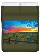 Taos Sunset Ix Duvet Cover