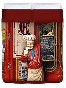 Tapas Restaurant Duvet Cover