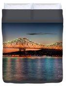Tappan Zee Bridge Twilight I Duvet Cover