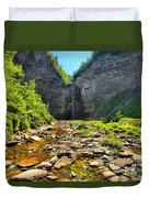 Taughannock Falls Canyon Duvet Cover