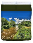 Taughannock Falls Creek Duvet Cover