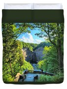 Taughannock Falls Overlook Duvet Cover