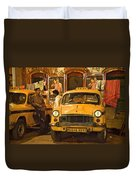 Taxi Talk Duvet Cover