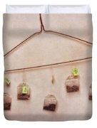 Tea Bags Duvet Cover by Priska Wettstein