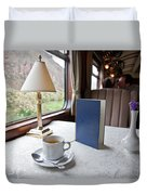 Tea Is Served By Peru Rail On The Way Duvet Cover