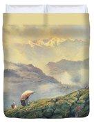 Tea Picking - Darjeeling - India Duvet Cover