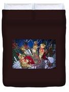 Teddy Bear Band Christmas Duvet Cover