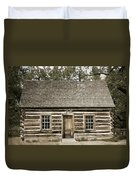 Teddy Roosevelt's Maltese Cross Log Cabin Retro Style Duvet Cover