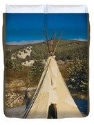Teepee In The Snow 2 Duvet Cover
