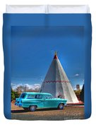 Teepee On Route 66 Duvet Cover