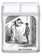 Telegram: Death, 1879 Duvet Cover