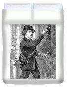 Telegraph Messenger, 1869 Duvet Cover