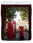 Telephone And Mail Box Duvet Cover