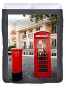 Telephone And Post Box Duvet Cover