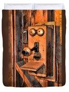 Telephone - Antique Hand Cranked Phone Duvet Cover