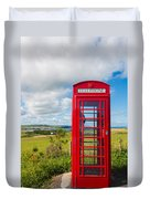 Telephone Anyone Duvet Cover