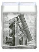 Telescope At The Paris Obervatory Duvet Cover