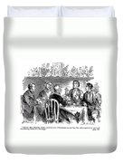 Temperance Movement, 1856 Duvet Cover