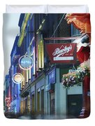 Temple Bar, Dublin, Co Dublin, Ireland Duvet Cover