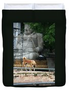 Temple Dog And Buddha Duvet Cover