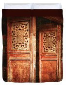 Temple Door Duvet Cover