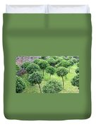 Temple Garden Trees Duvet Cover