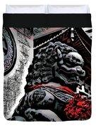 Temple Lion Duvet Cover