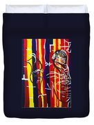 Temptation Of Jesus Duvet Cover