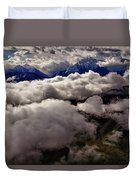 Ten Thousand Feet Over Denali Duvet Cover