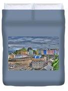 Tenby Harbour In Summer 2 Duvet Cover