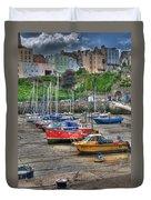 Tenby Harbour In Summer 3 Duvet Cover