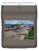 Tenby Harbour In Summer Duvet Cover