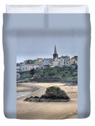 Tenby Over North Beach Duvet Cover