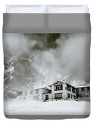 Tengboche Monastery In The Himalaya Duvet Cover