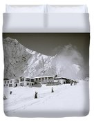 Tengboche Monastery In The Himalayas Duvet Cover