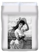 Tennis, 1887 Duvet Cover