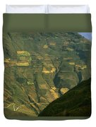Terraced Fields Above Canyon Draining Duvet Cover