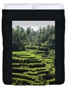 Terraced Rice Fields On Bali Island Duvet Cover